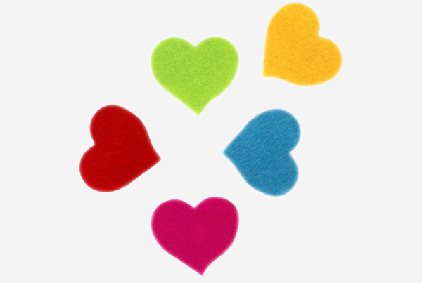 68003800 pegatinas fieltro corazones Fixo Kids