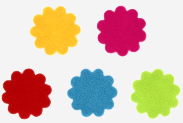 68004100 pegatinas fieltro flores