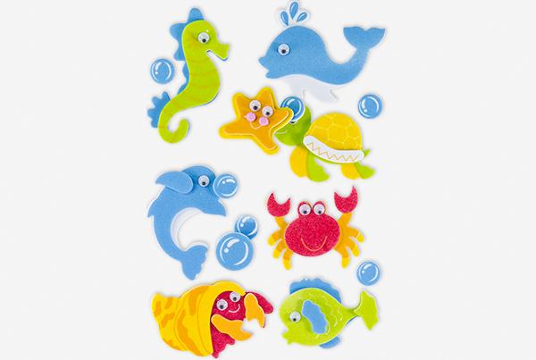68048108 Figuras EVA adhesiva 3d animales acuaticos