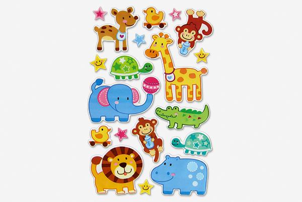 pegatinas decorativas con forma de animales