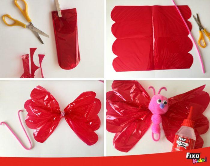 hacer-mariposa-de-papel-celofan