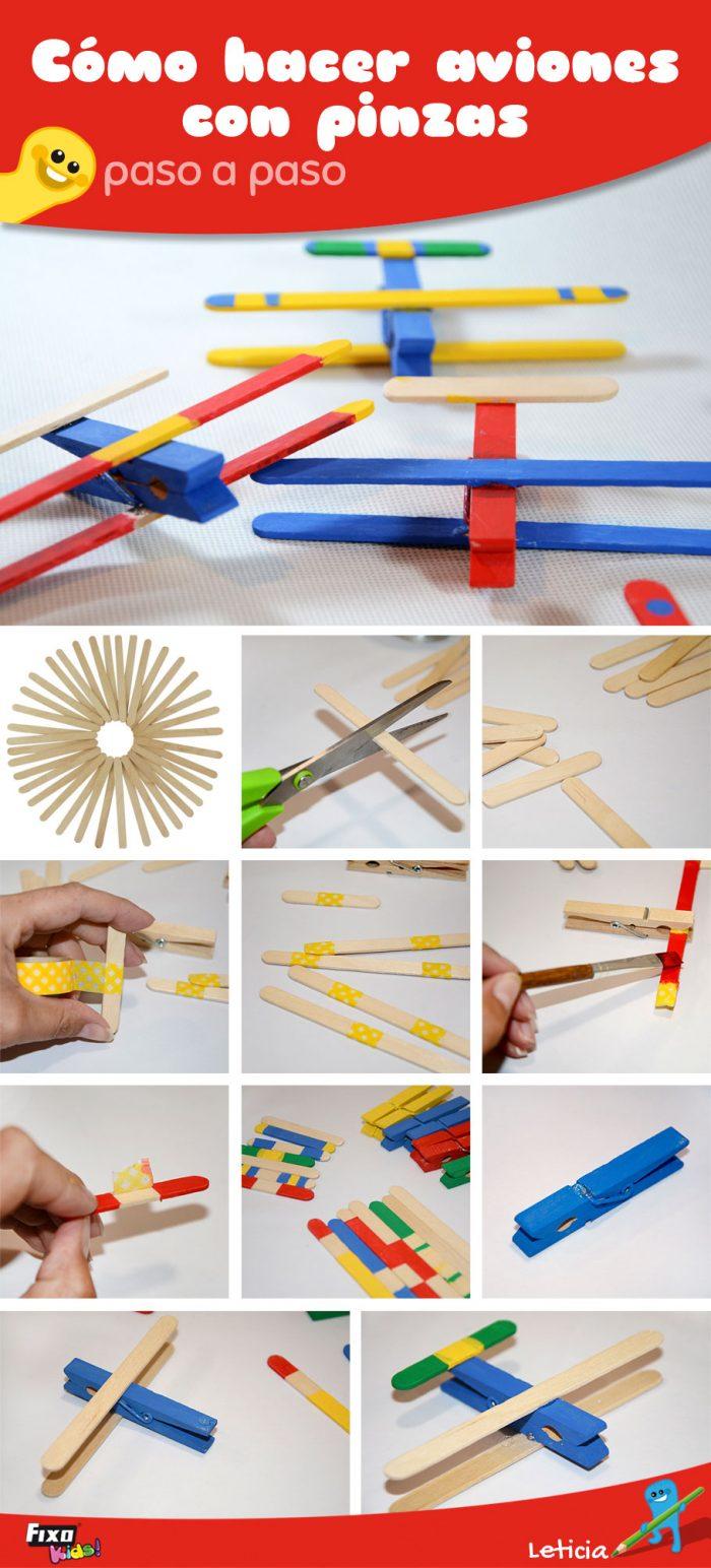 aviones-con-pinzas-manualidades-para-ninos