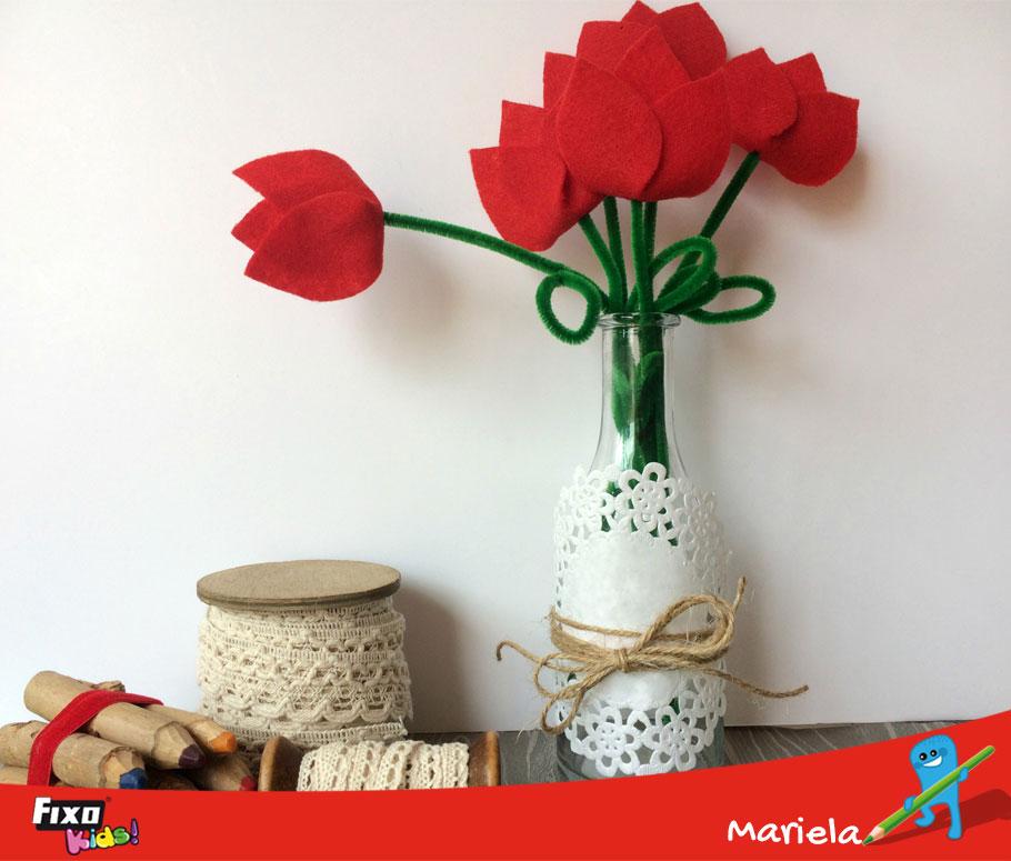 flores de fieltro fáciles