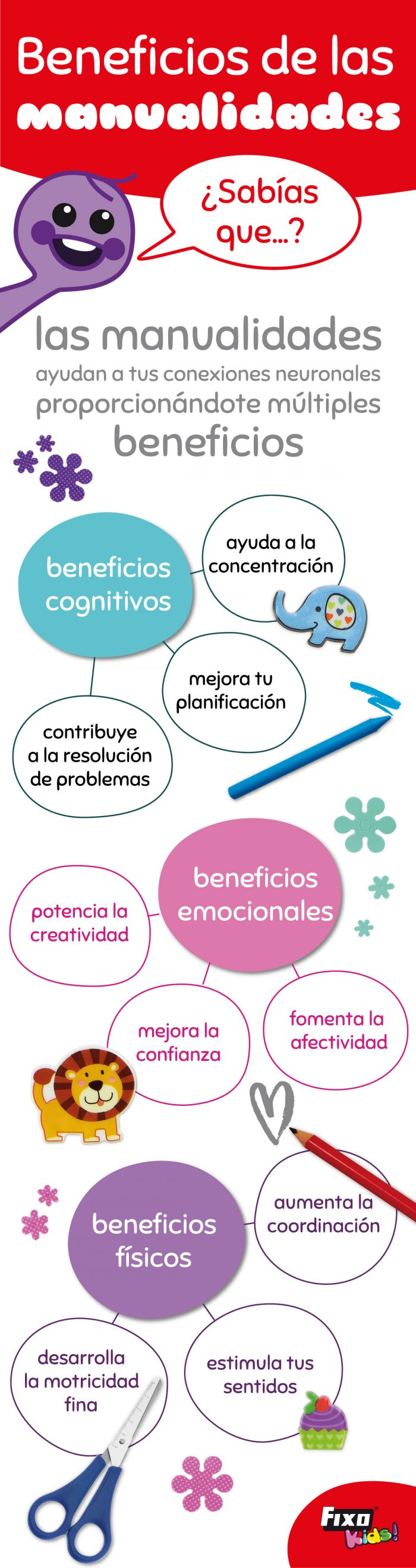 9 beneficios de las manualidades para niños.