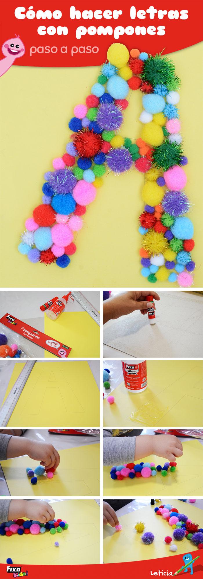 Como-hacer-letras-con-pompones