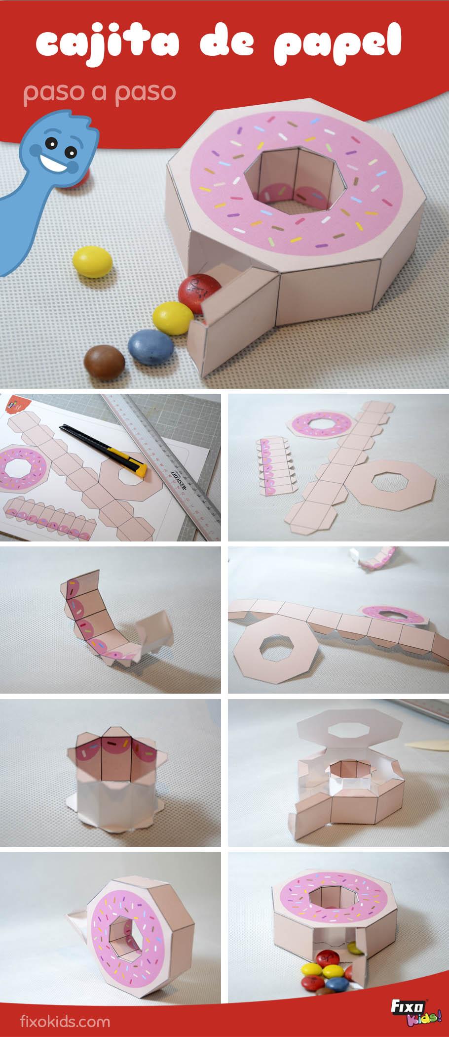 caja para dulces de cartulina