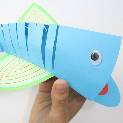 pez articulado para niños
