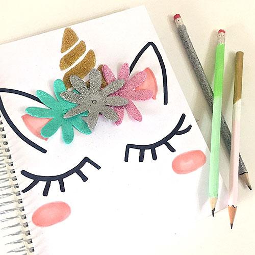decorar lápices y cuadernos fácilmente