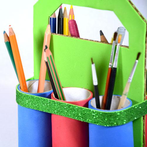 organizador de pinturas y pinceles