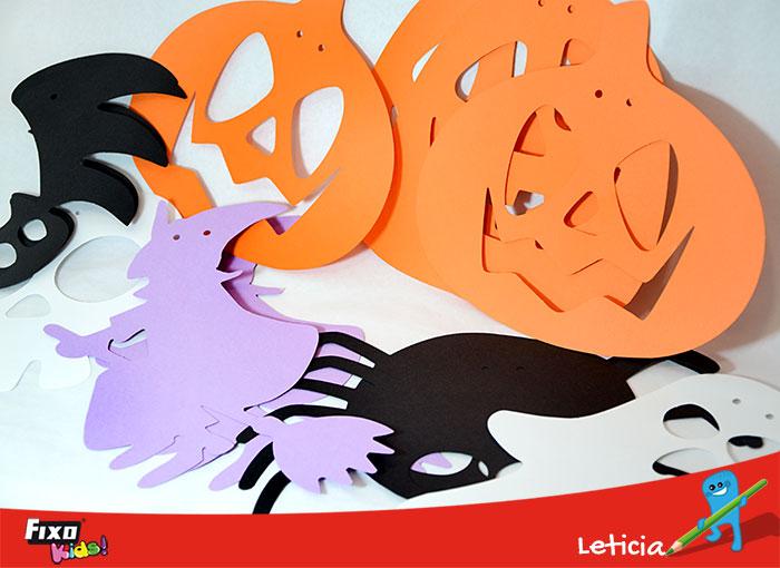 figuras para hacer guirnaldas de halloween fixokids