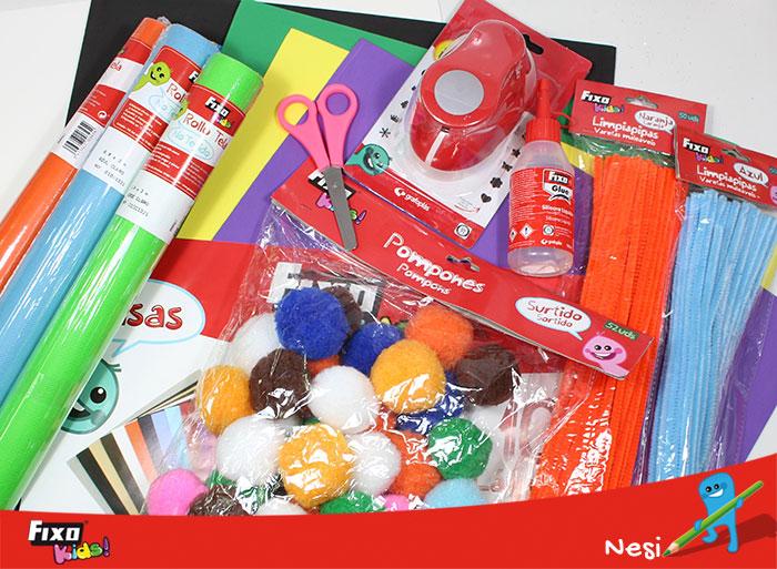 materiales para hacer manualidad infantil