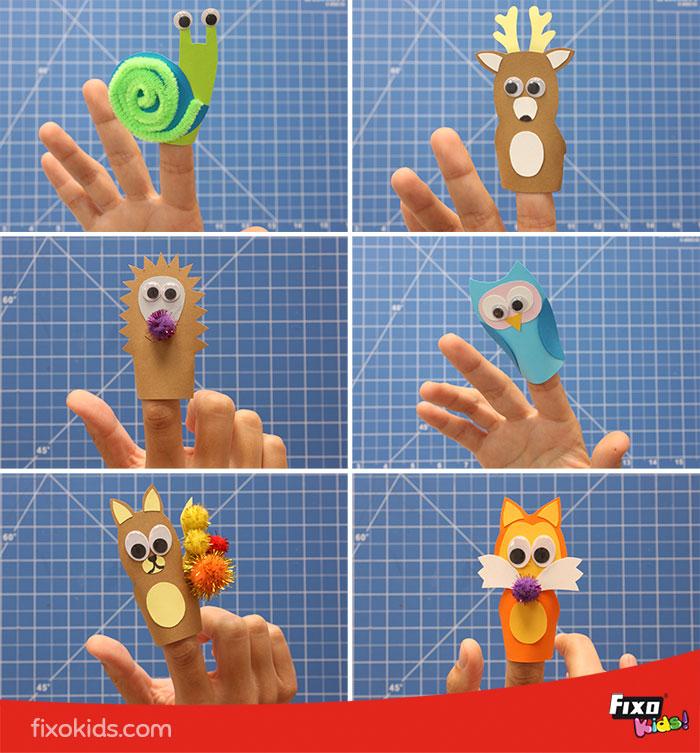 plantillas de marionetas de animales
