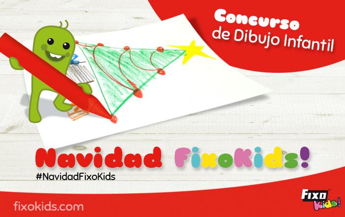 Concurso dibujo infantil navidad fixo kids