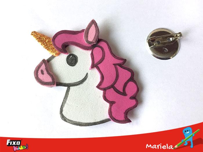 broche unicornio goma eva