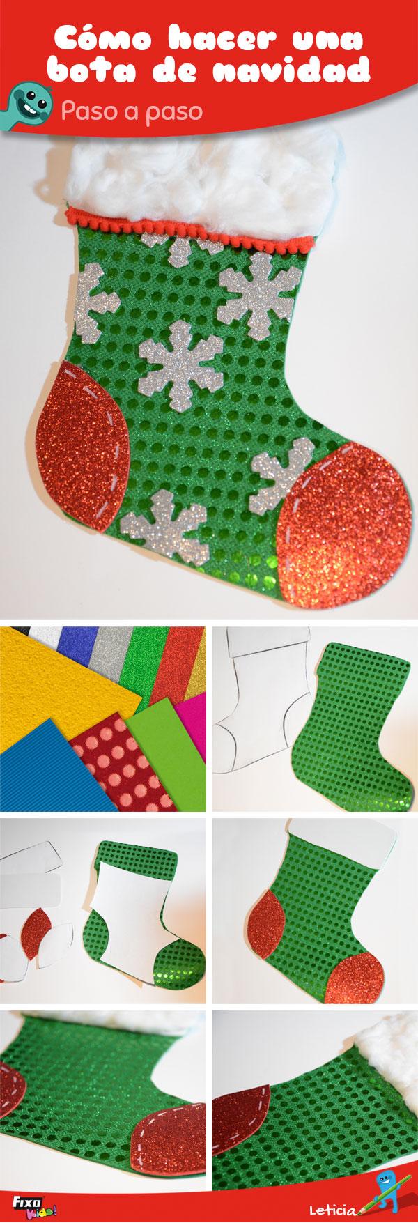 2 Ideas De Decoración Navideña Papá Noel Y Bota De Navidad