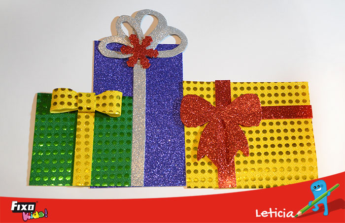 regalos foami árbol de navidad