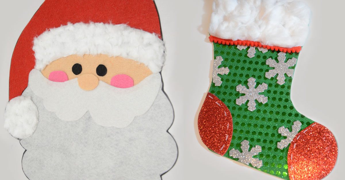 2 ideas de decoraci n navide a pap noel y bota de for Manualidad navidad infantil