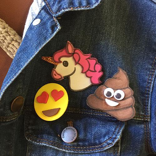 tutorial con plantilla para broches emojis