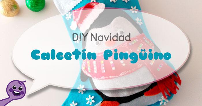 cómo hacer un calcetín navideño