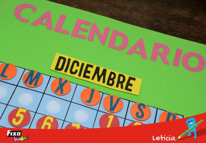 calendario para aprender jugando