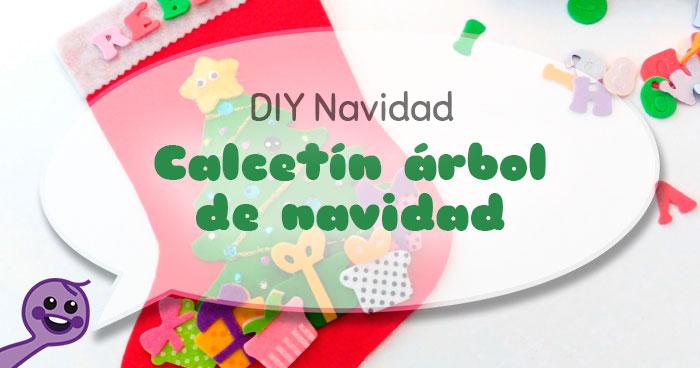cómo hacer un calcetín de fieltro árbol de navidad