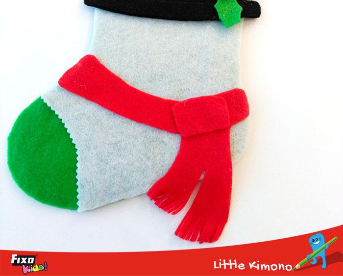decoración para calcetín nadal fieltro