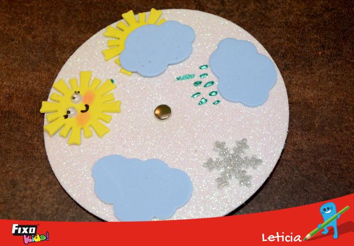 enseñar el tiempo a los niños con un disco del tiempo