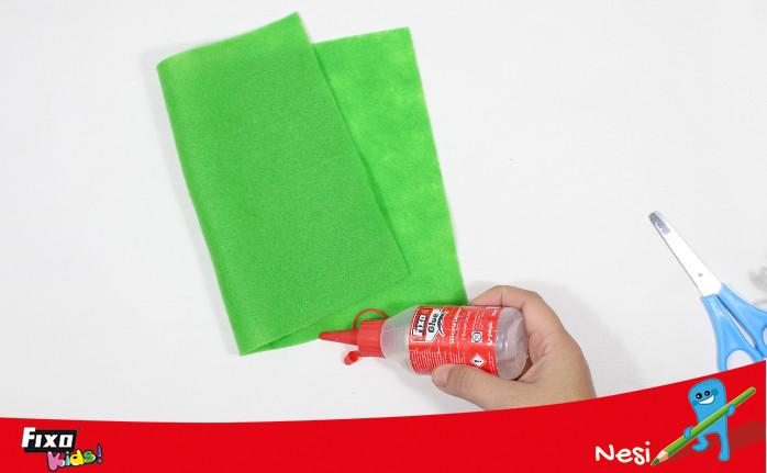 fieltro verde bolsa elfo