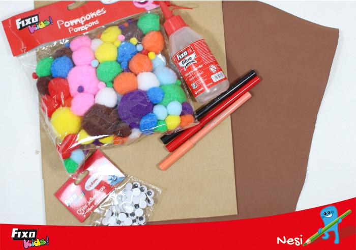 materiales para hacer una bolsa reno