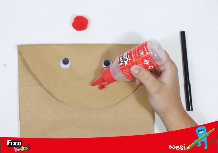 ojos adhesivos para decorar bolsa reno