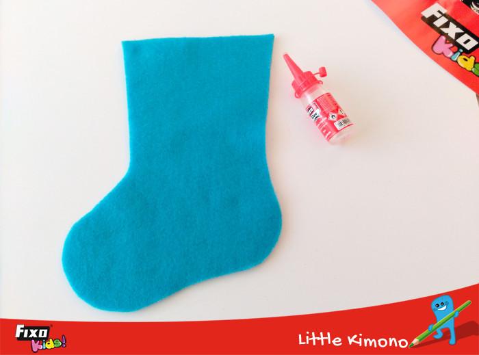 pegar calcetín fieltro silicona líquida
