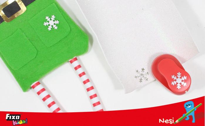 perforadora copo de nieve regalo navidad