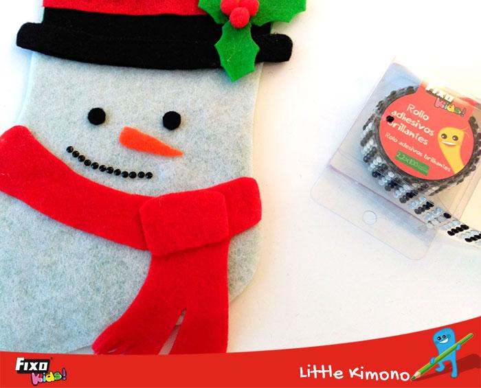 usar rollos adhesivos brillantes en manualidades de navidad