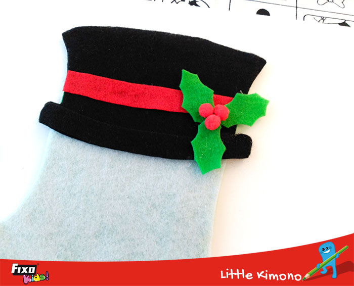 sombrero navidad fieltro