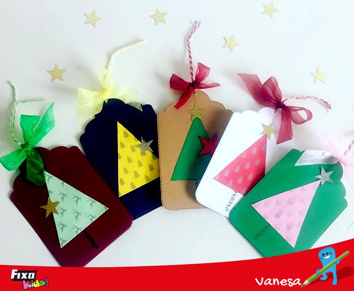 etiquetas para regalos de navidad con cartulina