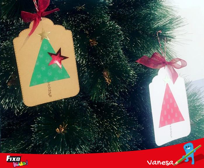tags para colgar en el árbol de navidad