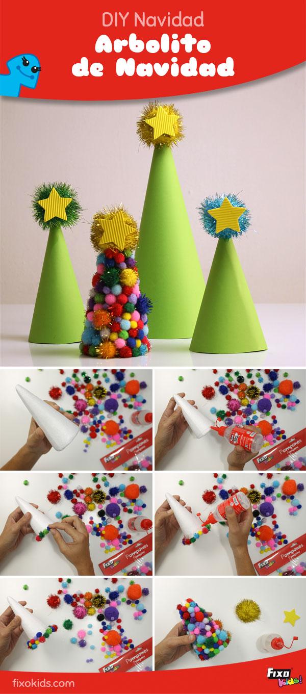 tutorial árbol de navidad con pompones
