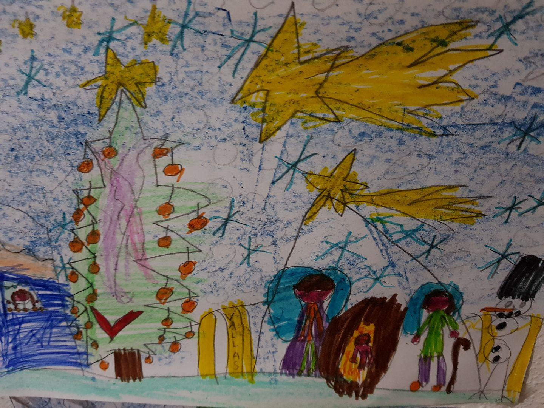 ganador concurso de dibujo de navidad