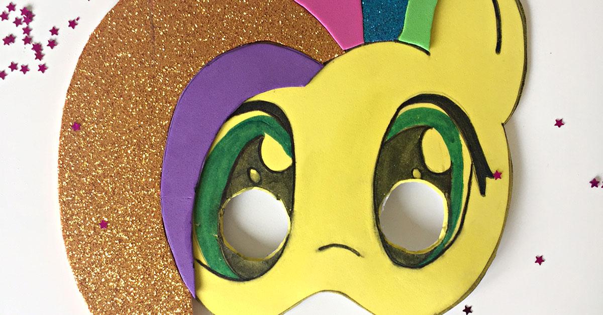 Como Hacer Una Mascara De Carnaval En Forma De Unicornio Fixo Kids