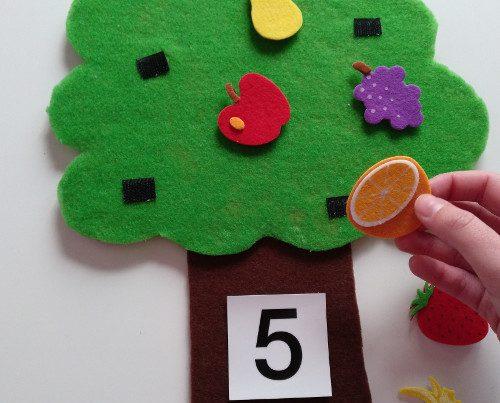 cómo hacer un árbol frutal de fieltro