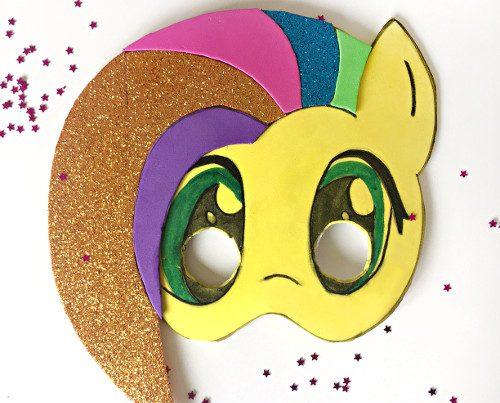 máscara de carnaval unicornio