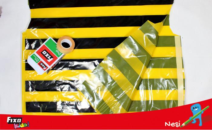 cinta adhesiva fixo duo para pegar bolsas disfraces
