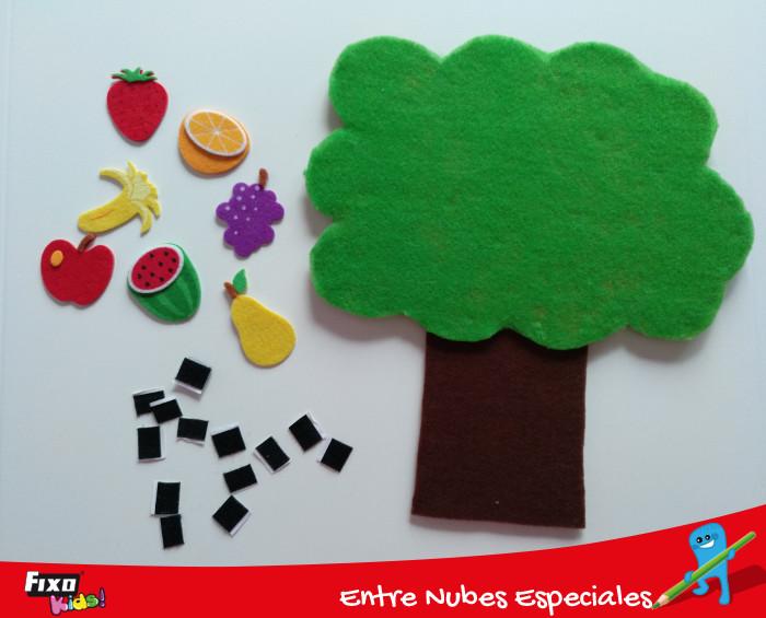 cinta adhesiva textil para pegar las frutas al árbol