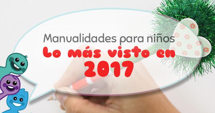 manualidades para niños más vistas en 2017