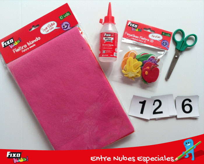 materiales para manualidad con fieltro fixo kids