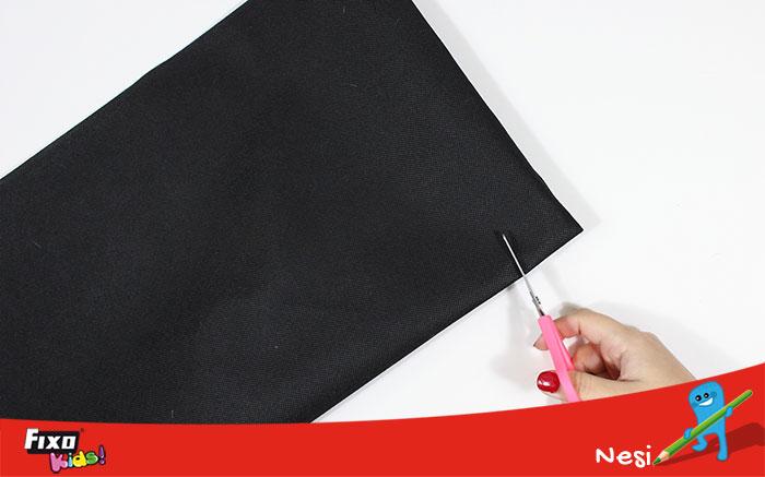 cortar mangas tela no tejido