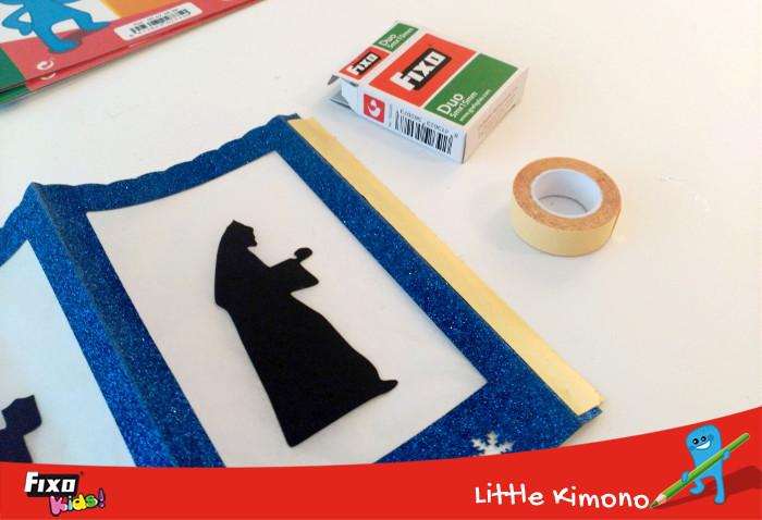 pegar cartulina con cinta adhesiva doble