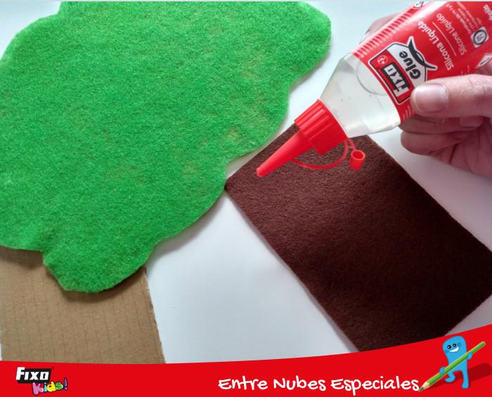 silicona líquida fixo glue para pegar fieltro