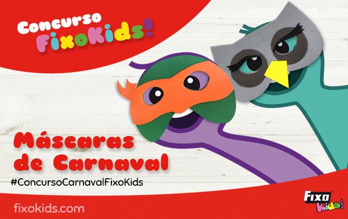 concurso fixo kids máscaras de carnaval