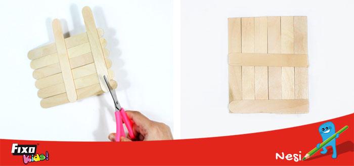 cómo cortar palitos madera